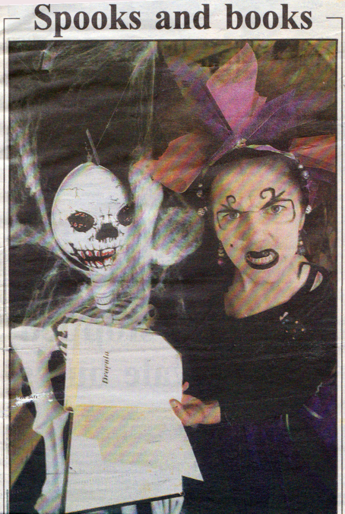 Charlotte Dressed as Witch from Manly Daily article published 30/10/1996